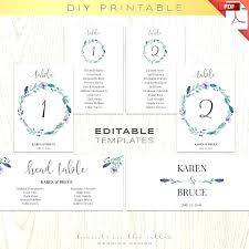 number templates 1 10 template printable number template table cards greenery wedding