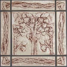 Decorative Relief Tiles Decorative handmade ceramic tile Decorative relief carved ceramic 64