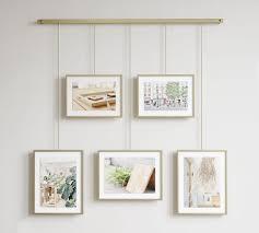 hanging brass gallery frames set of 5