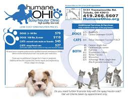 Services Prices Humane Ohio Spay Neuter Clinic