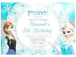 Frozen Invitations Wording Birthday Party Invitation Free