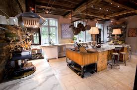 ... Eclectic farm home with vintage industrial kitchen [Design: Jarrett  Design]