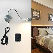 reading lamps for bedroom. led wall lamp waycom 6w gooseneck reading light silver- usb night lighting with switch lamps for bedroom l