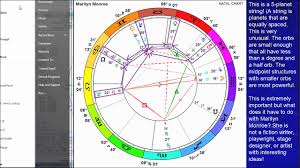 How To Interpret A Birth Chart Using Vibrational Astrology The Birth Chart Of Marilyn Monroe