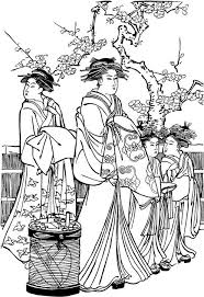 Small Picture Coloring Pages Japanese Holidays gyshas Pinterest