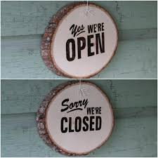 sims 2 business open closed sign reversible yes were sorry wooden s