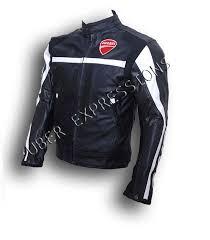 ducati corse black custom made motorbike racing armor leather jacket uber expressions