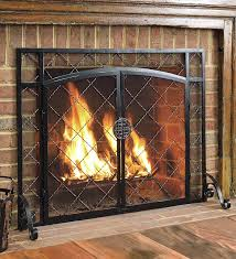 cast iron fireplace door get a plain insert and front with fire screen or grate plow