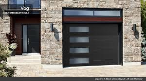 new garage door panel designs vog 10 x 7 black window layout left side harmony