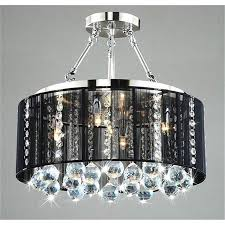 drum chandelier with crystals home design ideas lighting ideas silver mist hanging crystal drum shade