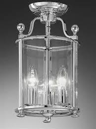 3 light flush lantern chrome finish pas 3