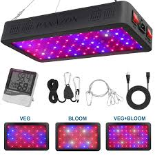 How Close To Keep Led Grow Lights Panazon 600w Led Plant Grow Light Full Spectrum Plant Light For Indoor Plants Veg And Flowers With Thermometer Humidity Monitor And Adjustable Rope