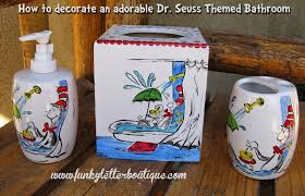 Dog Bathroom Accessories For Decorating An Adorable Dr Seuss Cat In The Hat Themed Bathroom