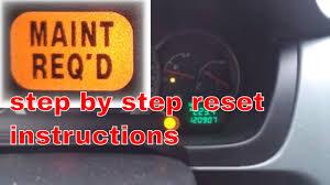 01 Honda Odyssey Maintenance Light Reset 2004 Honda Pilot Maint Required Oil Light Reset