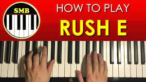 I found midis online from various sources (mostly from musescore) and opened them in synthesia with the virtual piano layout and copied down the notes. How To Play Rush E By Smb Piano Tutorial Lesson Youtube