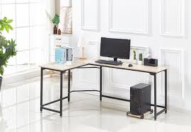 Home office study Contemporary Hago Modern Lshaped Desk Corner Computer Desk Home Office Study Workstation Wood Steel Pc Laptop Gaming Table Timy Toys Grow Up With Your Baby Timy Toys Grow Up With Your Baby Hago Modern Lshaped Desk Corner Computer Desk Home Office Study