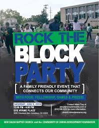 Block Party Flyer Rock The Block Party Columbusunderground Com