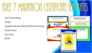 Fun Run Certificate Template Participation Award Fun Run Certificate Template C Of
