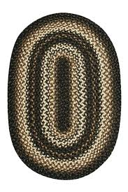 black forest braided rug cream jute cottage oval