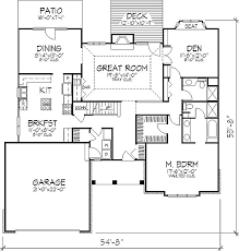 2200 SquareFoot House Plan Ranch Style H170 Mountain Country 2200 Square Foot House Plans