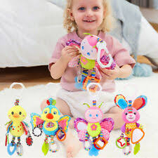 <b>Baby Infant</b> Rattles <b>Plush Animal Stroller</b> Hanging Bell Play <b>Toy</b> Doll ...