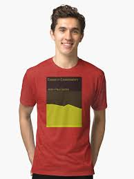 essays in existentialism jean paul sartre unisex t shirt by  essays in existentialism jean paul sartre tri blend t shirt