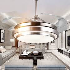 Charming Dining Room Bedroom Ceiling Fan Lights Invisible Quiet Simple Modern  Frequency Remote Control Ceiling Led Lamp