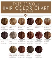 Brown Skin Tone Chart 24 Shades Of Brown Hair Color Chart To Suit Any Complexion