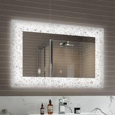 bathroom mirror chrome. Top 62 First-class Slim Bathroom Mirror Led Heated Chrome Bath Mirrors Light Up Vision O