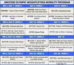 an 8 week mobility program for masters