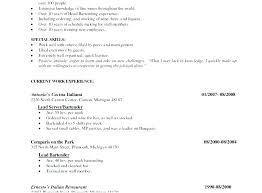 Server Resume Skills Stunning Resume For Server Mkma