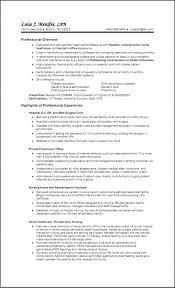Lvn Resume Example Resume Template New Lvn Resume Sample Resume