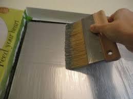 diy metallic furniture. Diy Faux Silver Leaf Metallic Furniture
