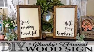 diy chunky framed wood signs