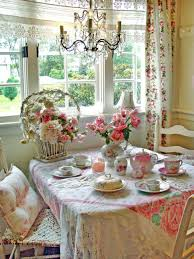shabby chic dining room furniture beautiful pictures. Amazing Shabby Chic Idea For Your Interior Decor: Floral Vover Dining Table With Room Furniture Beautiful Pictures T