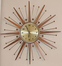 vintage sunburst clock best clock me images on wall clocks vintage elgin starburst wall clock