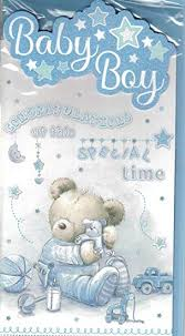Congrats Baby Born New Baby Boy Card Congratulations On The Birth Of Your Lovely Son Lovely Quality New Baby Bear Blanket Card