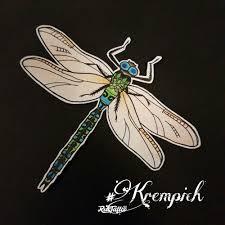 фото эскизы стрекоза стрекоза в стиле нью скул цветная