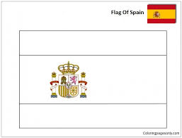 It also represents the historical flag of francoist spain from 1936 to 1938, which was proclaimed on 29 august 1936, the junta de defensa nacional, in decree no. Flag Of Spain World Cup 2018 Coloring Pages World Cup Coloring Pages Free Printable Coloring Pages Online