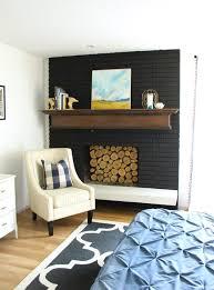 fireplace mantels ideas painted black fireplace