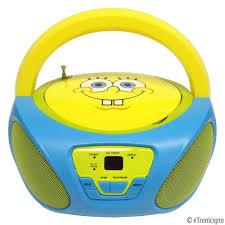 Small Cd Player For Bedroom Nickelodeon Spongebob Squarepants Child039s Portable Cd Player