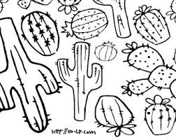Small Picture Cactus coloring page Etsy