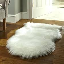 cool faux fur sheepskin rug small classic pink