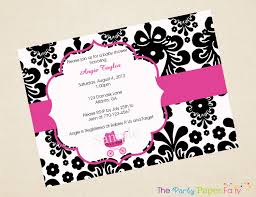 Elegant Black Baby Shower Invitations HD Image Pictures Ideas ...