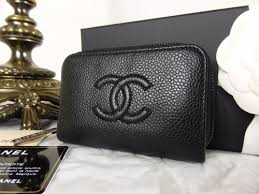 chanel zip coin purse. chanel small zip around concertina coin purse in black caviar with silver hardware - sold