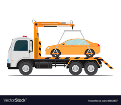 Tow truck car for transportation Royalty Free Vector Image