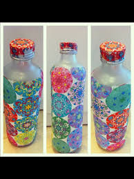Decorated Plastic Bottles Glass Water bottle decoration Creative ideas that I made 7