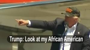 Image result for trump african american image
