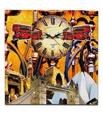 india and london fusion canvas clock