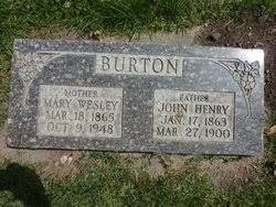 Mary Elizabeth Wesley Burton (1865-1948) - Find A Grave Memorial